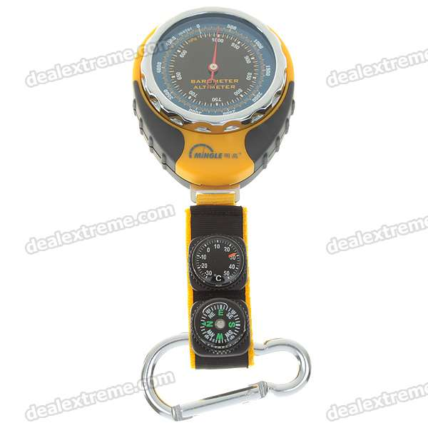 Review Of Carabiner, Compass And Thermometer