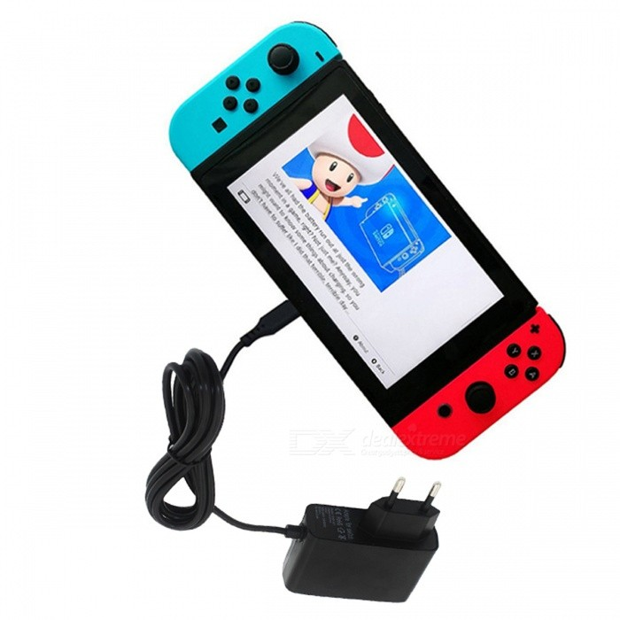 EU Plug nätadapter Laddare Adapter för Nintendo Switch NS