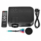Mini LED-4018 HD LED Projector w/ Remote Control - Black (EU Plug)