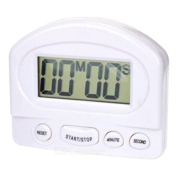 Large LCD Count Down Timer - White