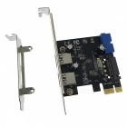 Cwxuan High Speed ​​PCI-E 2-Port USB 3.0 Extension Card Adapter - Black