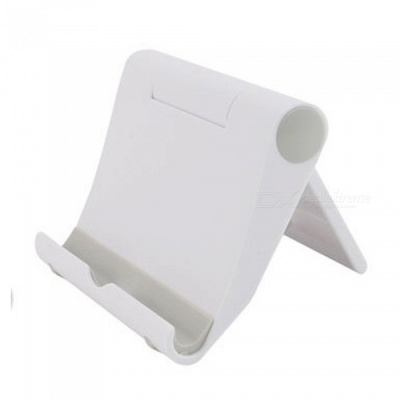 KICCY Universal Adjustable Lazy Mobile Phone Stand Holder - White