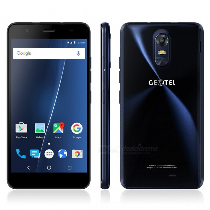 Geotel Note Android 6.0 Smartphone w / 3 GB RAM 16 GB ROM - Dark Blue