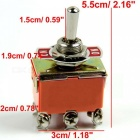 ON/OFF/ON Terminals Mini Master Car Toggle Switch - Random color