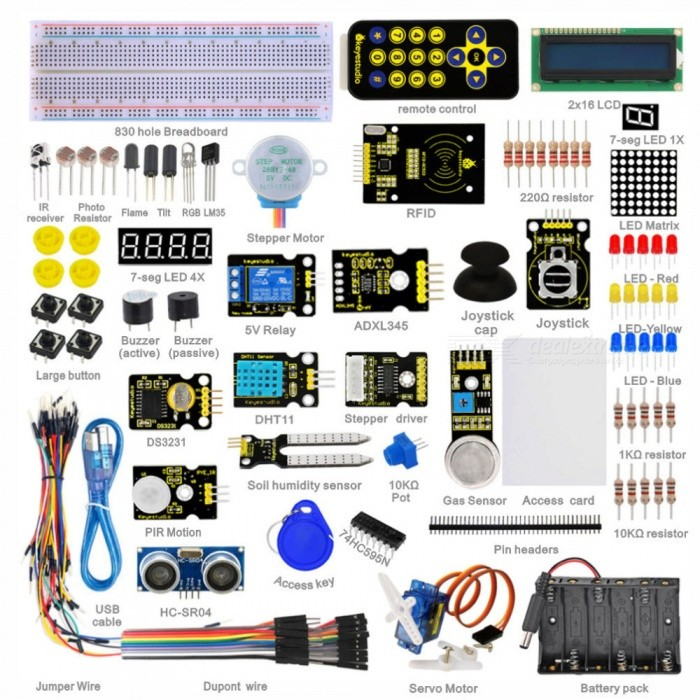 Super Starter Learning Kit For Arduino With 32 Projects RFID1602 User Manual