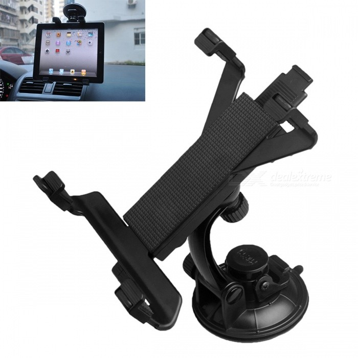 ZIQIAO Universal Suckers Tablet Automotive Bracket - BlackMounts &amp; Holders<br>Form  ColorBlackModelN/AQuantity1 DX.PCM.Model.AttributeModel.UnitMaterialABSCompatible Size7~10 DX.PCM.Model.AttributeModel.UnitMount TypeCar MountWith ChargerNoPacking List1 x Suction cup holder1 x Tablet PC support<br>
