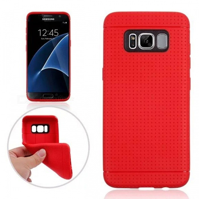 Honeycomb Pattern Protective TPU Back Case for Samsung Galaxy S8 - RedTPU Cases<br>Form  ColorRedQuantity1 DX.PCM.Model.AttributeModel.UnitMaterialTPUShade Of ColorRedCompatible ModelsSamsung Galaxy S8DesignSolid ColorStyleBack CasesPacking List1 x Back case<br>