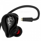 KZ ZS3 HiFi Stereo Metal In-ear Wired hörlurar - svart (med mikrofon)