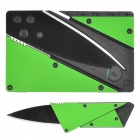 Outdoor multifunktions Senaste Folding Card Knife - Grön