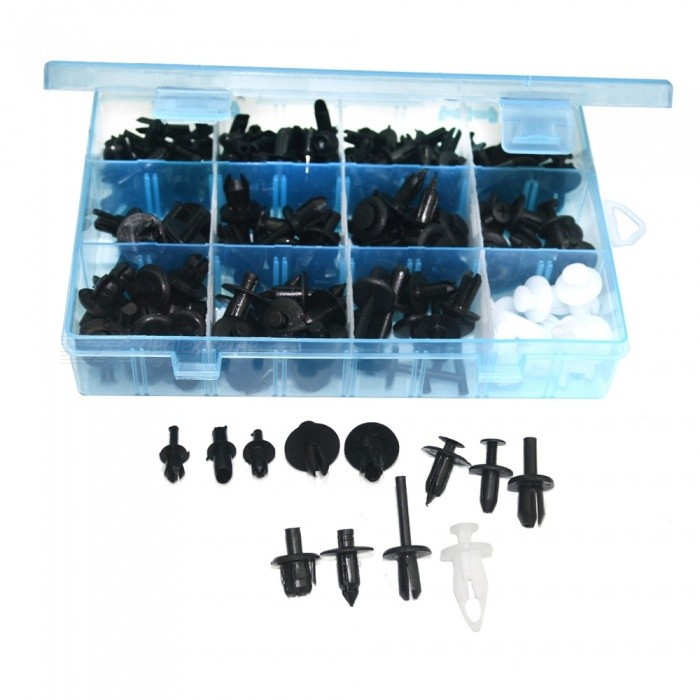 QooK Push Pin Rivet Trim Clip Panel Body Interior Assortment (196 PCS)Other Gadgets<br>Form  ColorBlueModelJHMA1120Quantity1 DX.PCM.Model.AttributeModel.UnitMaterialPCShade Of ColorBlackPacking ListP12 30 x Black Drive RivetsP16 30 x Black Drive RivetsP22 8 x Black Driver RivetsPC21610 x Black Driver RivetsP18 15 x  Black Driver RivetsBY2017 8 x White Drive RivetsB31 10 x Black Drive RivetsC05 15 x Black Driver RivetsP15 30 x Black Driver RivetsP02 30 x Black Driver RivetsB99 15 x Black Driver RivetsP25 10 x Black Drive Rivets<br>