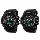 SKMEI-1155-50M-Waterproof-Multifunction-Sport-Watch-Black-(2-PCS)