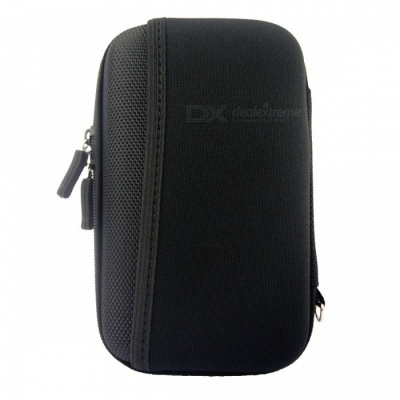 "Protective Shockproof Bag Pouch for 2.5"" Hard Disk Drive + More- Black"