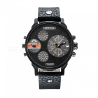 CAGARNY-6836-Fashion-Leather-Quartz-Analog-Wrist-Watch-Black