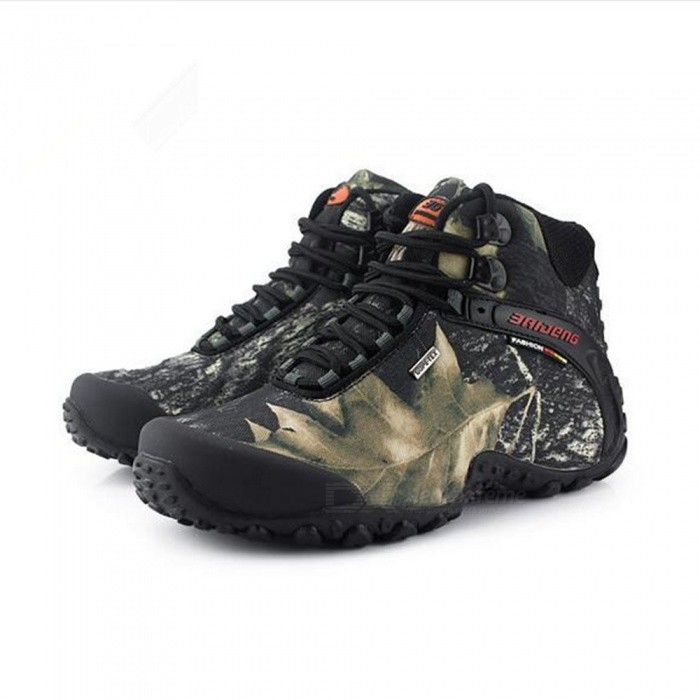 Buy Outdoor Waterproof Ankle-High Wearing Climbing Shoes - Gray (43#) with Litecoins with Free Shipping on Gipsybee.com