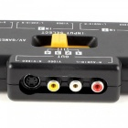 4-Wege Audio Video AV RCA Schalter / Game Selector Box Splitter-Schwarz