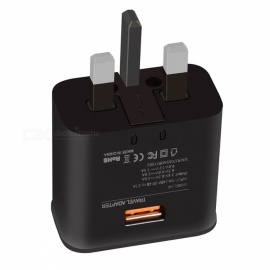 Premium-Design-UK-Plug-Quick-Charge-30-18W-Wall-Charger-Black