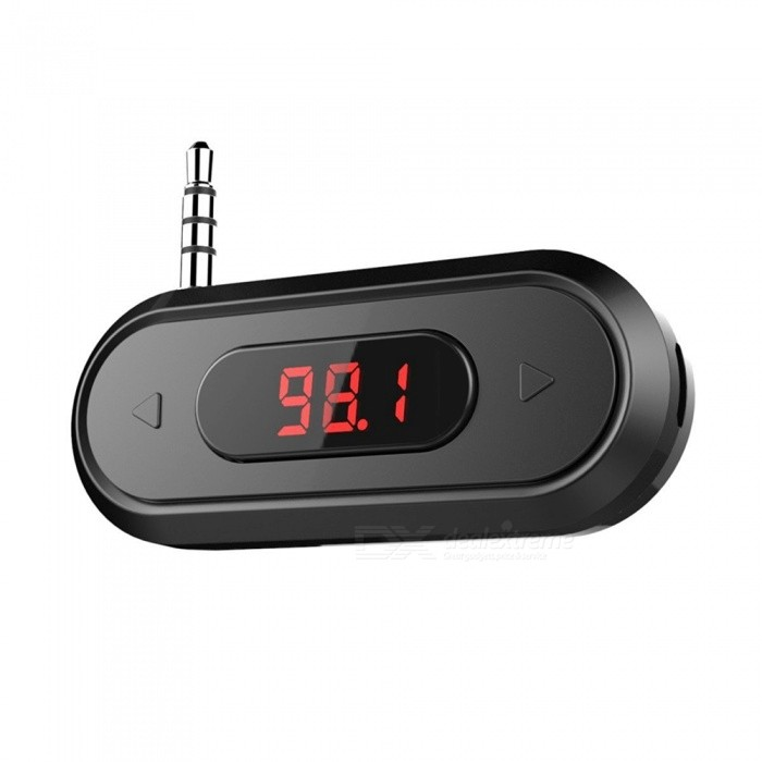 Wireless Radio Car Kit FM Transmitter w/ 3.5mm Audio Plug - Black