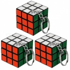 Rubik's Cube Keychains - Multi-Colored (3 PCS)