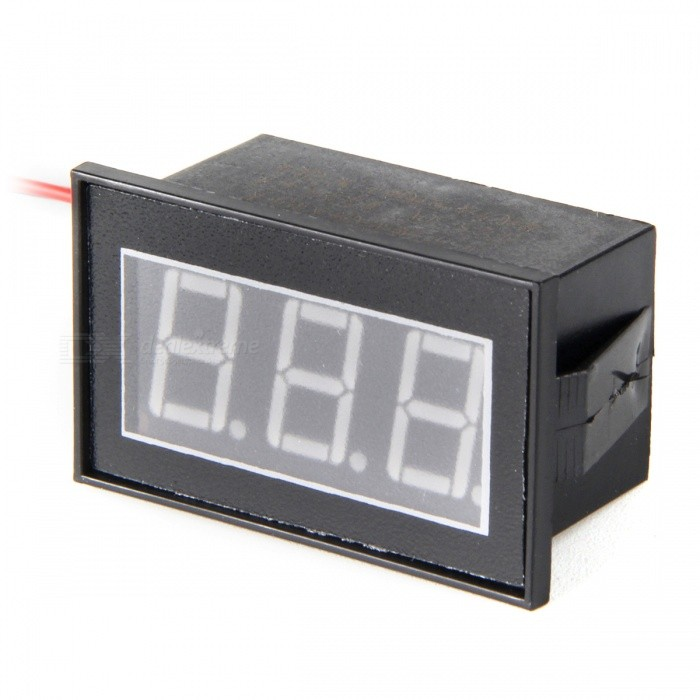 HakkaDeal V56D Wasserdicht DC2.50-30V Rot Display Digital Voltmeter