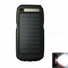 Ismartdigi-3LED-SOS-8000mAh-5V-2A-Power-Bank-w-Solar-Charge-Black