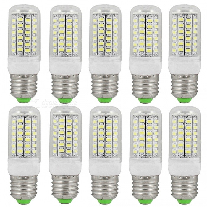 E27 12W 1800lm 69-SMD 5730 Cold White LED Corn Bulbs (220~240V/10PCS) for sale in Bitcoin, Litecoin, Ethereum, Bitcoin Cash with the best price and Free Shipping on Gipsybee.com