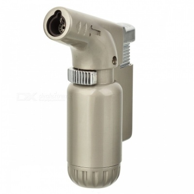 Multi-Functional All-Metal Elbow Windproof Gas Lighter - Silver