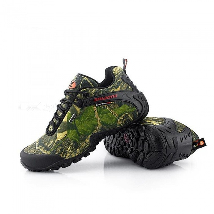 Buy Waterproof Camouflage Maple Leaf Climbing Shoes - Khaki Yellow (43#) with Litecoins with Free Shipping on Gipsybee.com