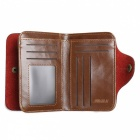 JIN BAO LAI Herren Stylish Folding Split Leder Geldbörse - Kaffee