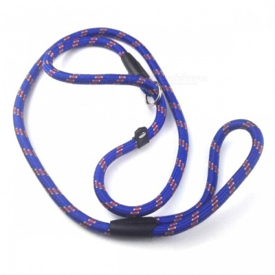 Pet Dog Nylon Adjustable Loop Slip Leash Rope Lead - Blue (1.2m)