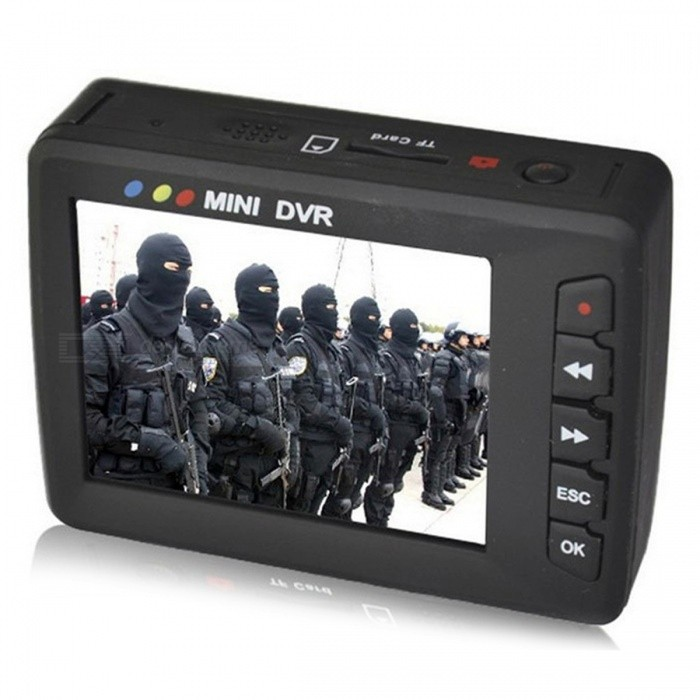 Buy Portable Mini Video Upgraded Angel Eyes AV Output Car DVR - Black with Litecoins with Free Shipping on Gipsybee.com