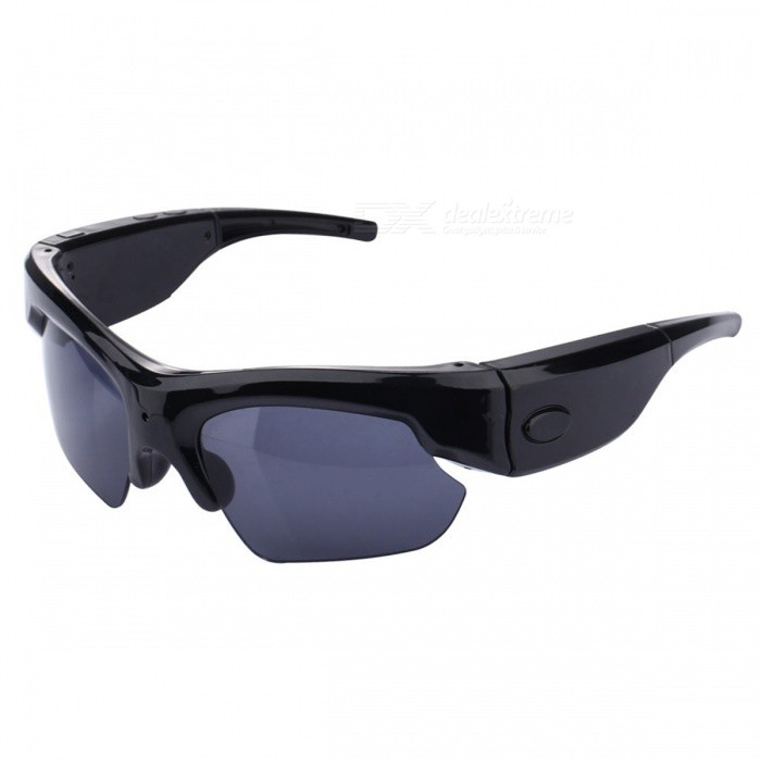 Smart Bluetooth V4.0 Glasses w/ Call Talking, Picture Taking - Black