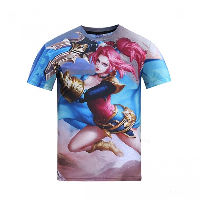 Buy MB0169 3D Printing Cartoon Motifs T-shirt - Multicolor (XL) with Litecoins with Free Shipping on Gipsybee.com