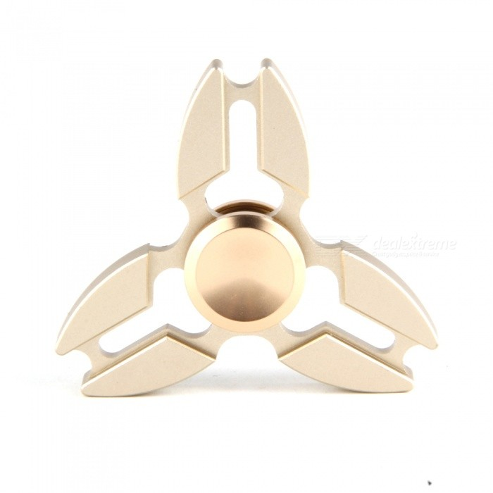 Buy Metal Zinc Alloy Tri Fidget Hand Finger Spinner - Golden with Litecoins with Free Shipping on Gipsybee.com