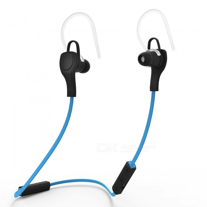 Bluetooth 4.1 Wireless Stereo Earphones w/ Mic - Black + Blue