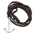 Fashion Navy Boat Anchor Woven Nylon Armband - Schwarz + Rot