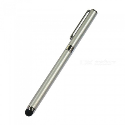 AT-14 Dual Use Touch Screen Stylus Pen / Handwritten Pen - Silver