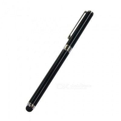 AT-14 Dual Use Touch Screen Stylus Pen / Handwritten Pen - Black