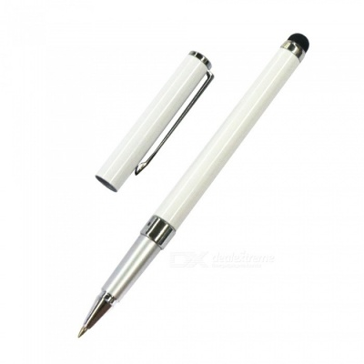 AT-14 Dual Use Touch Screen Stylus Pen / Handwritten Pen - White