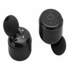 X2T Mini Invisible Bluetooth V4.2 Stereokuuloke w / laturi - musta