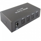 SPDIF 1x4 1-in 4-ut Digital Audio Toslink Splitter (US-pluggar)