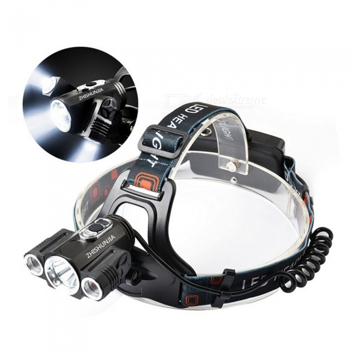 Buy ZHISHUNJIA YH-6862 1*XM-L T6+2*R2 1500lm 4-Mode White Headlights with Litecoins with Free Shipping on Gipsybee.com
