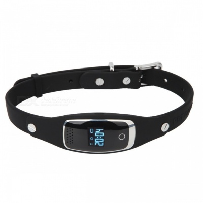DMDG Mini Waterproof Silicon Pets Collar GPS Anti-lost Tracker - Black