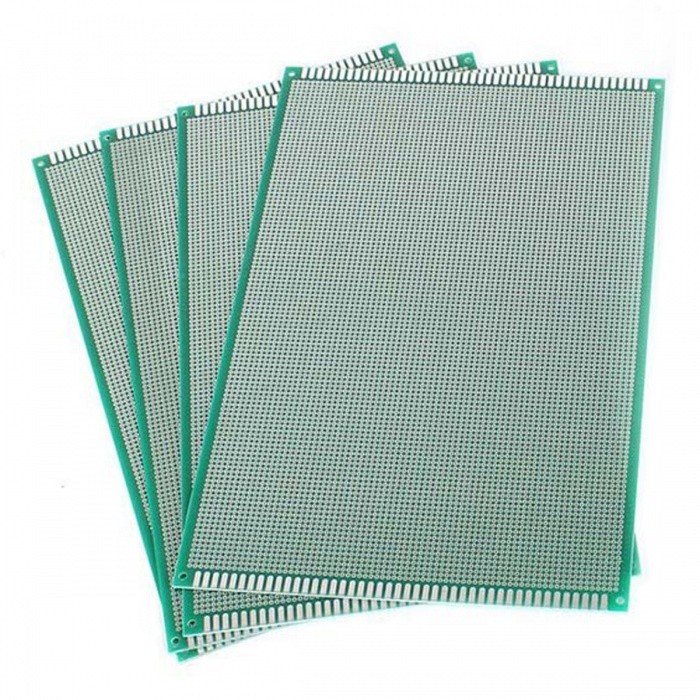 20-x-30CM-Universal-Single-sided-PCS-Roadboards-(4Pcs)-Green-2b-Silver