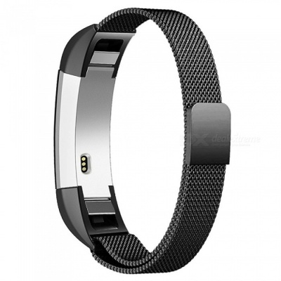 Miimall Milanese Loop Watch Band for Fitbit Alta / Alta HR - Black