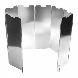 P-TOP Folding 8-Section Cooking Stove Windshields - Silver