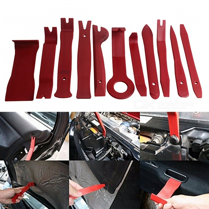 ZIQIAO Car Radio Dash Audio Removal Pry Tool (11Pcs/Set) - Wine Red for sale in Bitcoin, Litecoin, Ethereum, Bitcoin Cash with the best price and Free Shipping on Gipsybee.com