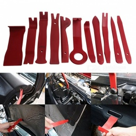 ZIQIAO Car Radio Dash Audio Removal Pry Tool (11Pcs/Set) - Wine Red