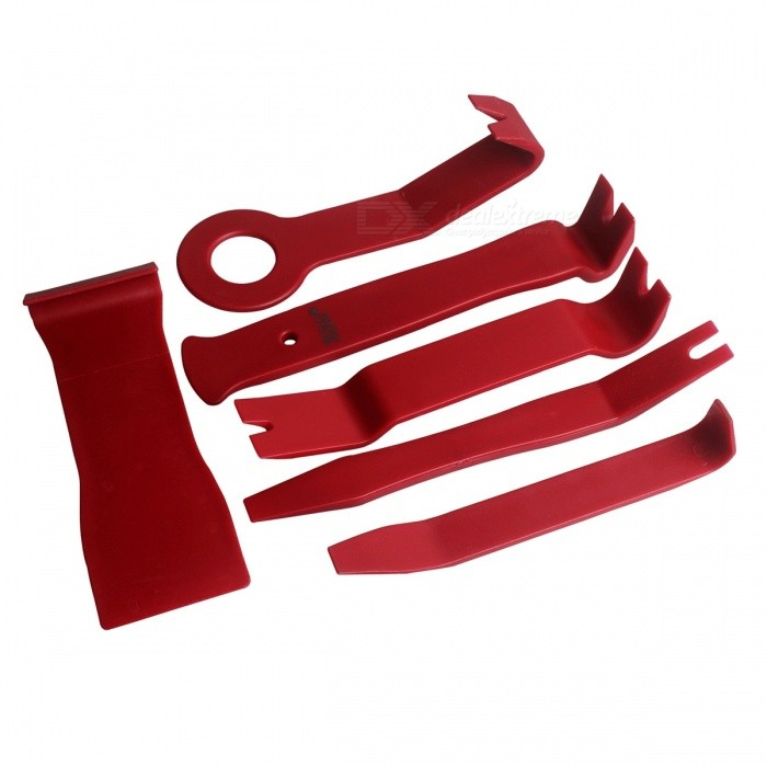 Dx coupon: ZIQIAO Car Radio Dash Audio Removal Pry Tool (11Pcs/Set) - Wine Red