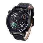 Oulm-HP3707-Mens-Quartz-Watch-w-Leather-Strap-Black