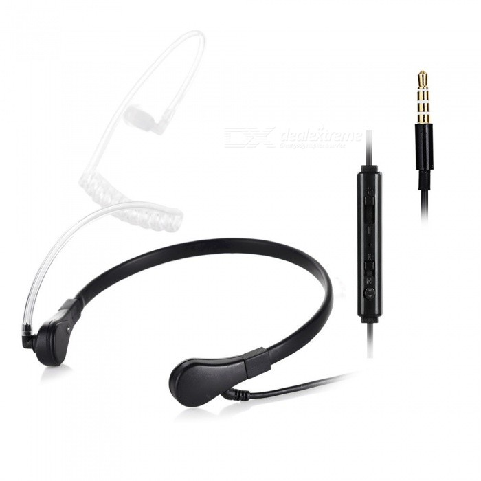 Cwxuan 3,5 mm: n anti-säteilykanavan kuuloke w / Mic + Smart Button-Black